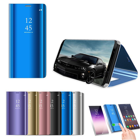 Smart Mirror Flip Phone Case For Samsung Galaxy A50 A70 A80 A30 A20 A10 S10 S10E S8 S9 Plus S7 Note 10 Pro 8 9 Protective Cover Lahore