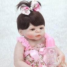 Lifelike Baby Reborn Doll Soft Silicone 22