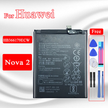 2950mAh Cell Phone Battery For Huawei Nova 2 Nova2 PIC AL00 PIC TL00 PIC L29 PIC LX9 PIC L09 HB366179ECW Battery Fast Shipping
