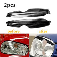 1 Pair of Car Accessories Real Carbon Fiber Headlight Cover Eyebrows Eyelids Fit for VW Volkswagen Golf 4 MK4 IV GTI 1999 2004