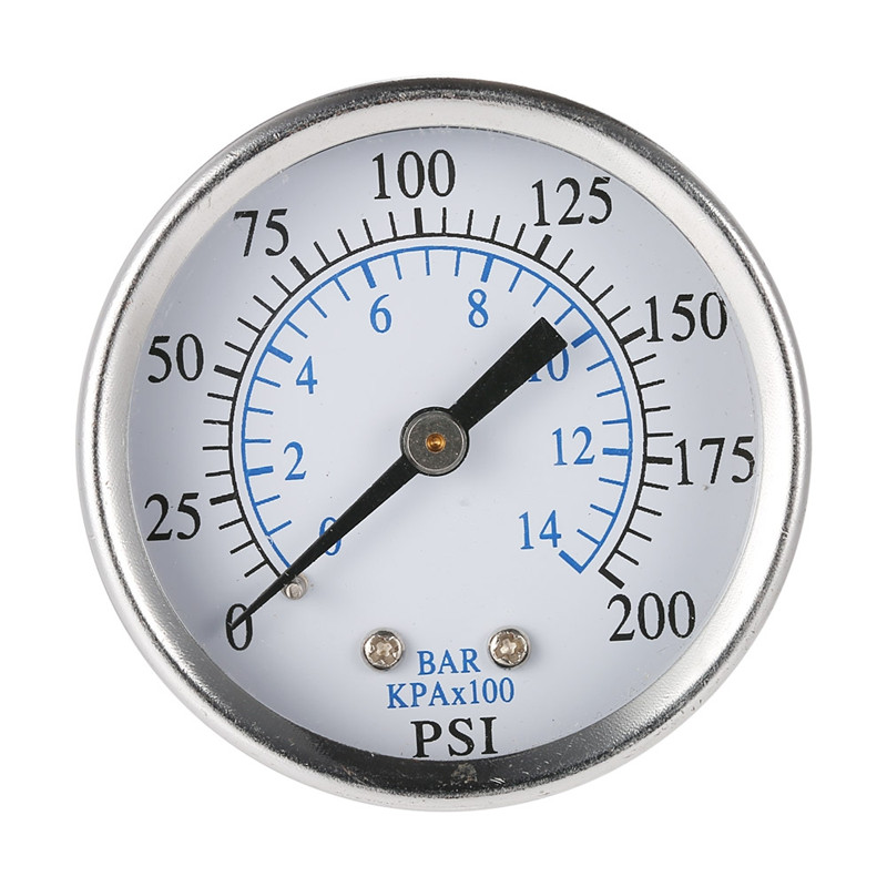 Ts-50-14 Portable Pressure Gauge Air Compressor Hydraulic Vacuum Gauge Manometer Pressure Tester 0-200 Psi 0-14 Bar 1/4 Npt