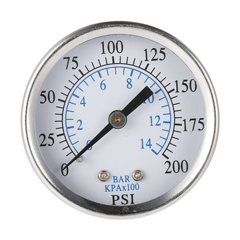 Ts-50-14 medidor de presión portátil compresor de aire hidráulico medidor de vacío probador de presión del manómetro 0-200 Psi 0-14 Bar 1/4 Npt