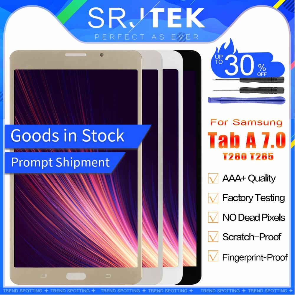 """SM T280 LCD For Samsung Galaxy Tab A 7.0 2016 SM-T280 LCD SM-T285 T285 Display Touch Screen Digitizer Assembly Matrix Parts 7"""""""