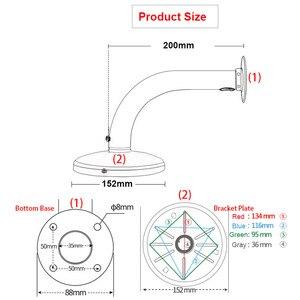 Image 5 - Staffa di montaggio a parete per telecamera Dome di sorveglianza antipioggia per esterni in lega di alluminio compatibile con la telecamera IP Samsung Hikvision Dahua