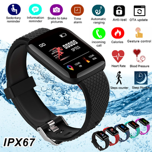Smart Bracelets Fitness Health Band Pedometer Heart Rate Monitor Wristband Cardio Bracelet Smart Watch With Pressure Measurement(China)