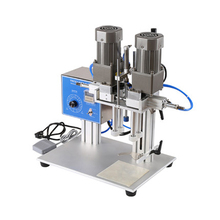 Pneumatic lock Machine Automatic Capping Machine Cosmetic Capping Machine Spray Bottle Capping Machine 98mm professional intelligent fully automatic cup sealing machine capper capping machine seamer packing machine with paper cups
