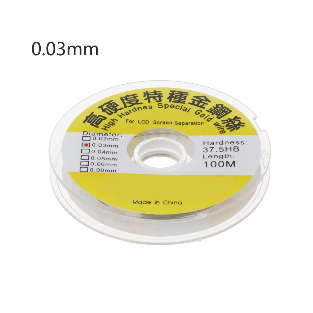 Drop Ship 100m Alloy Gold Molybdenum Wire Cutting Line LCD Display Screen Separator Repair