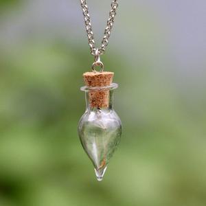 Модная цепочка ожерелье s для женщин подвеска в виде бутылочки желаний семена одуванчика счастливое стекло ожерелье ювелирные изделия