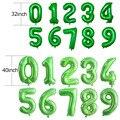 LQDT 32/40 дюймов зеленый номер воздушный шар из фольги воздушный шар сафари воздушные шары на день вечерние/воздушные шары для детей 0, 1 2 3 4 5 6 7 8 ...