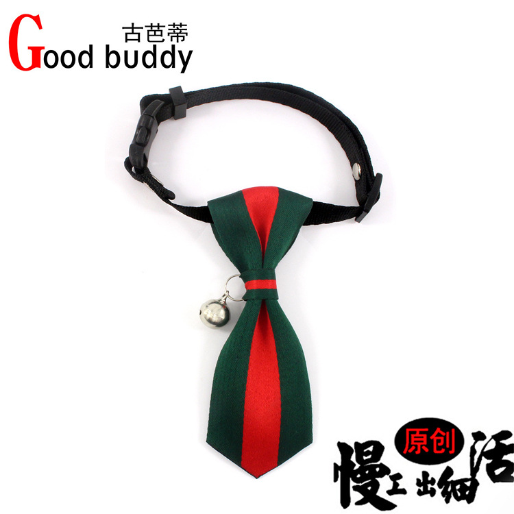 New Style British-Style Handmade Tie Dog Neck Ring Copper Bell Cat Neck Ornaments Small And Medium-sized Dogs Pet Supplies