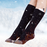 Outdoor Sports Heated Warm Socks Mountaineering Camping Foot Keep Warm Long Socks Outdoor Warm Clothing