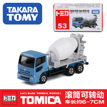 TAKARA TOMY  No.53 Mixer Truck Alloy Car Model Metal In Toy Vehicle