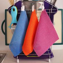 8pcs Multipurpose Bamboo Fiber Dishcloth Household Durable Dishwashing Cloth Duster Kitchen Cleaning Towels(Mixed Color)(China)