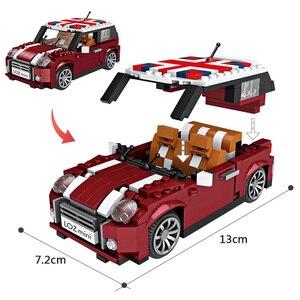 Image 5 - LOZ Technic minibloques de construcción para niños, vehículo educativo, escarabajo Creatored, camión de policía, coche, piezas, Juguetes