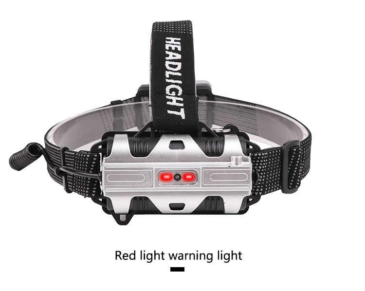 Kızıl ötesi sensörü far USB şarj edilebilir led lamba far gövde hareket sensörü kafa meşale ışık lambası USB için en iyi kamp, balıkçılık