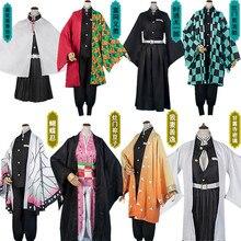 Anime Demon Slayer Cosplay Costume Set Mask Umbrella Socks Kimetsu No Yaiba Tanjirou Kamado Nezuko Unisex Kimono Cosplay Sets
