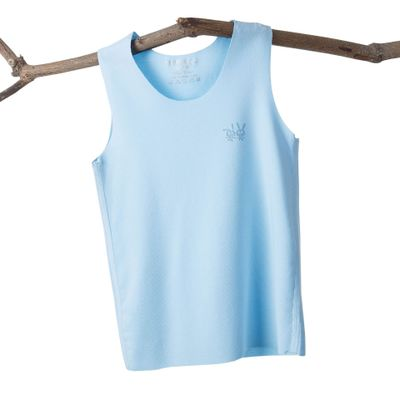 VIDMID Baby boys girls summer sleeveless t-shirt vests tops tees boys beach cotton girls kids Children's traceless vests 7128 01 3