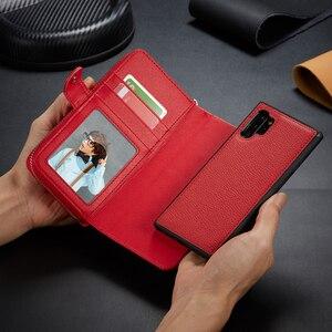 Image 4 - Fermeture à glissière portefeuille en cuir étui pour samsung Galaxy S10 Plus S10e S9 Plus S8 Plus Note 10 Plus 9 8 sac à main pochette coque de téléphone