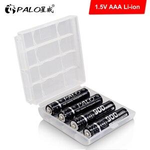 Image 2 - פאלו 4 24pcs 900mWh 1.5V AAA סוללה נטענת ליתיום ליתיום Li יון 3A סוללות עם LCD תצוגה חכם סוללה מטען