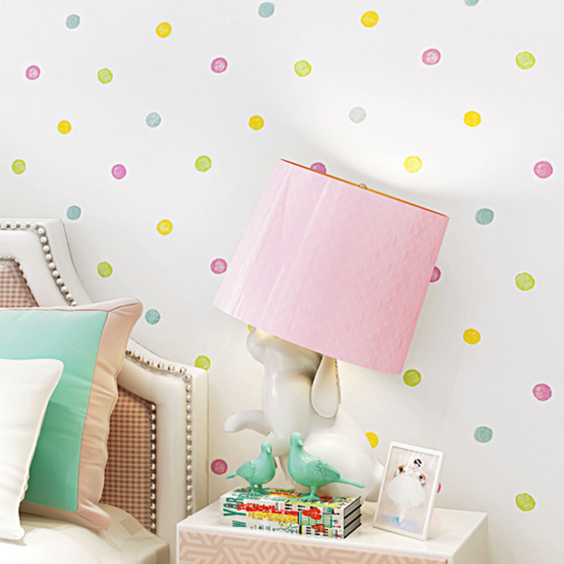CHILDREN'S Room Wallpaper GIRL'S Bedroom Princess Room Cartoon Warm Girls Nonwoven Fabric Pink Polkadot Children Wallpaper