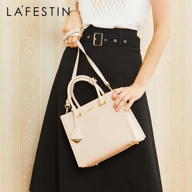 LA FESTIN brand women bag Retro luxury handbag shoulder bags ladies leather tote bag Multiple popular colors
