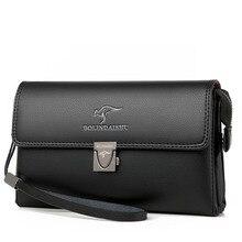 Men's Clutch Bags Anti-theft Code Lock Bag Men Zipper Leather Clutches male card holder Male Money Phone Wallet hand bag wallet