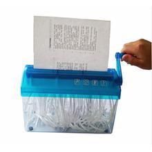 1 Pc Mini Portable  Manual A6-SIze Paper Shredder for Shredding documents & Paper & Invoice & Bill