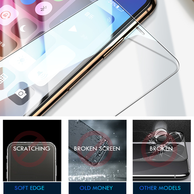 10D 3Pcs Tempered Glass On The For iPhone 7 8 6 6s Plus 5S SE Screen Protector For iPhone X XS XR 11 12 Pro Max Protective Glass 6