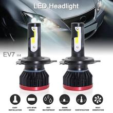 цены 2pcs Super Mini H4 HB2 9003 120W 20000LM 6500K Hi Lo COB LED Chips Headlight Bulbs Conversion Kit car accessories for Car auto