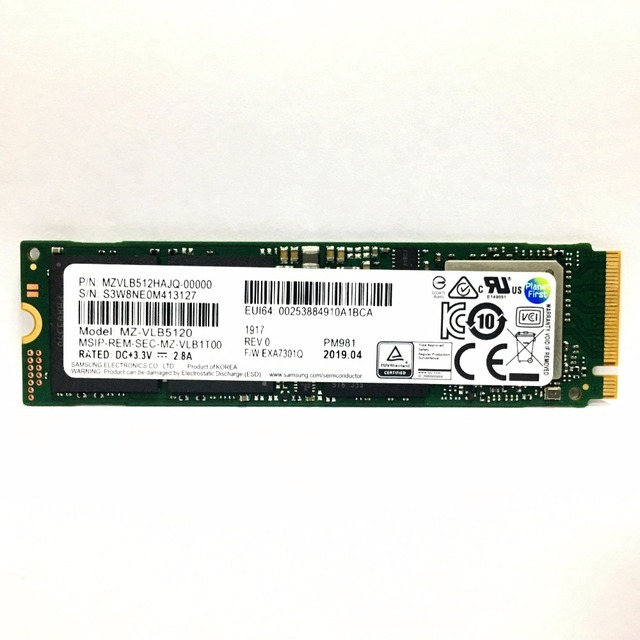 SAMSUNG 1TB SSD M.2 PM981 512GB Solid State Hard Disk M2 256GB SSD NVMe PCIe 3.0 x4 NVMe TLC PM for Laptop