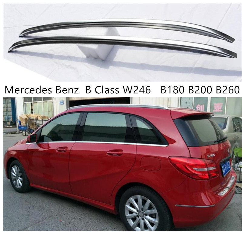 Roof Rack For <font><b>Mercedes</b></font> Benz <font><b>B</b></font> Class W246 2011-2018 Aluminum Alloy Rails Bar Luggage Carrier Bars top bar Racks Rail Boxes image