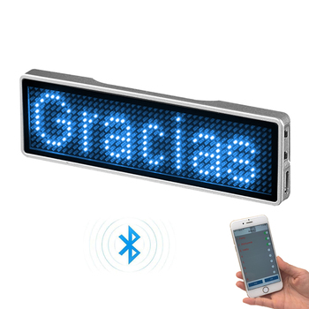 Mini LED Display Name Sign Tag Rechargeable Bluetooth Digital Badge DIY Programmable Scrolling Message Trademark - discount item  12% OFF Smart Electronics