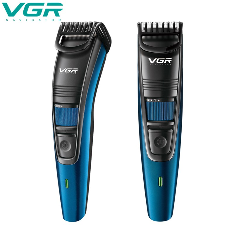 VGR  Electric Hair Clipper Hair Shaver USB Rechargeable Waterproof Beard Trimmer Shaver Hair Trimmer Adjustable Limit Comb