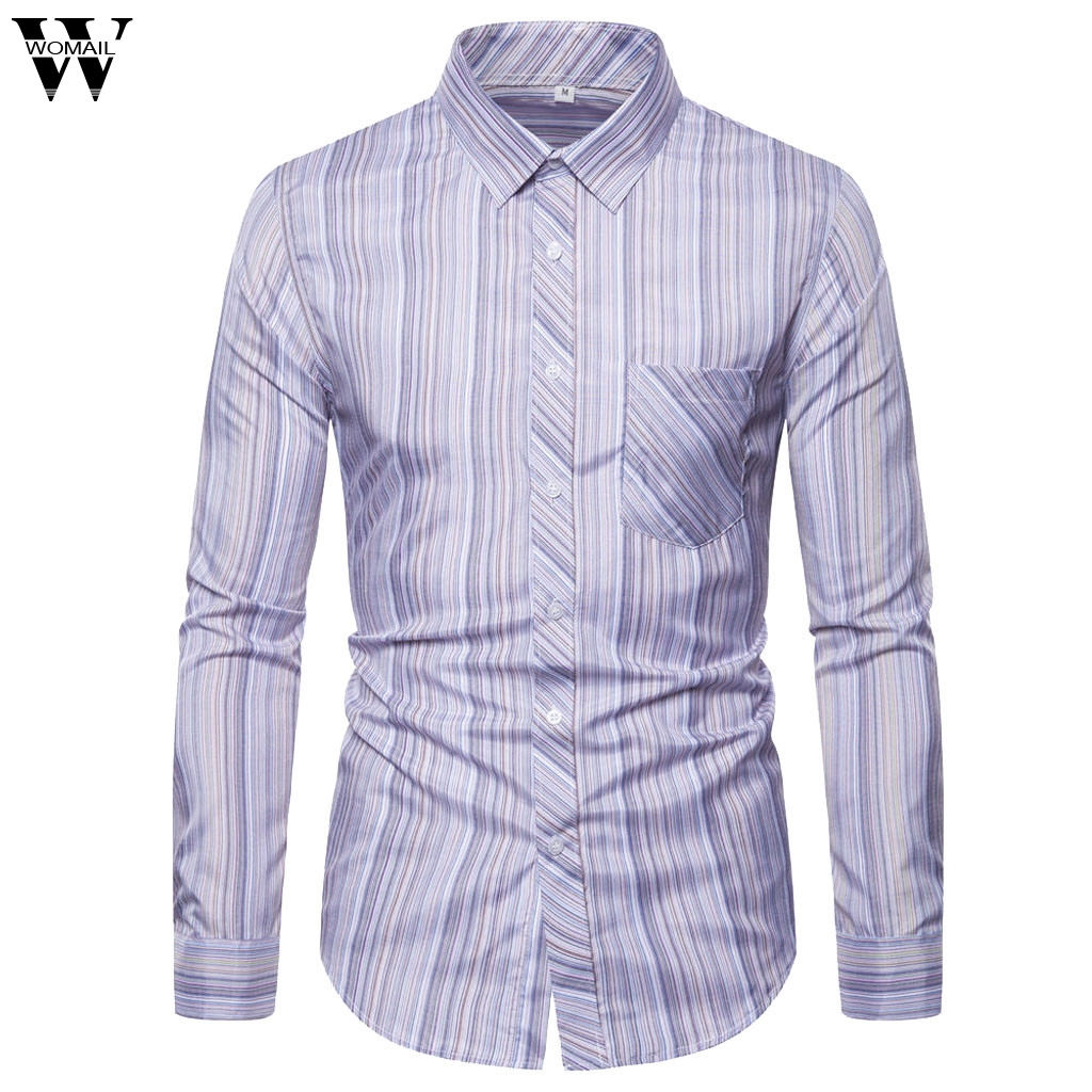 Domple Mens Business Buttons Zebra Print Long Sleeve Fashion Dress Shirts