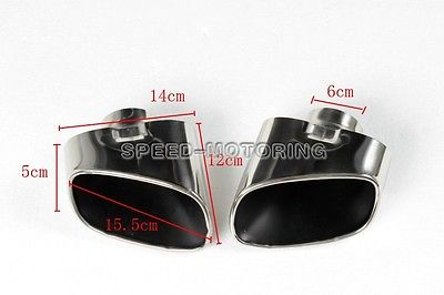 X5 E70 Stainless Steel Tail Exhaust Tips Muffler For BMW X5 E70 2007-2009 DHL Free Shipping