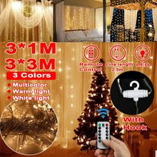 1m/3mx3m USB Strip Light Led String Light Silver Wire Christmas Light+Controller For Garland Holiday Fairy Wedding Party Decor(China)