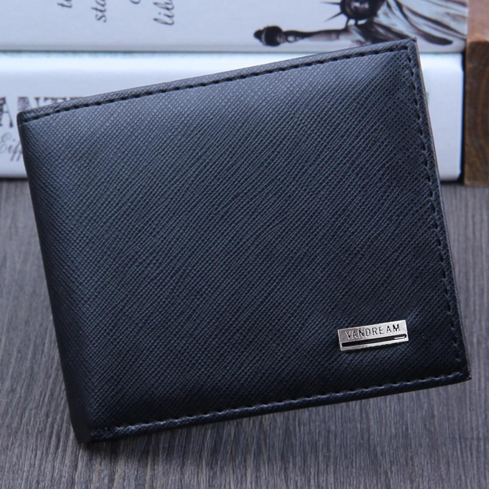 Men Bifold Business Leather Wallet  ID Credit Card Holder Purse men's wallet clutch portfel cuzdan billetera carteira  (4)