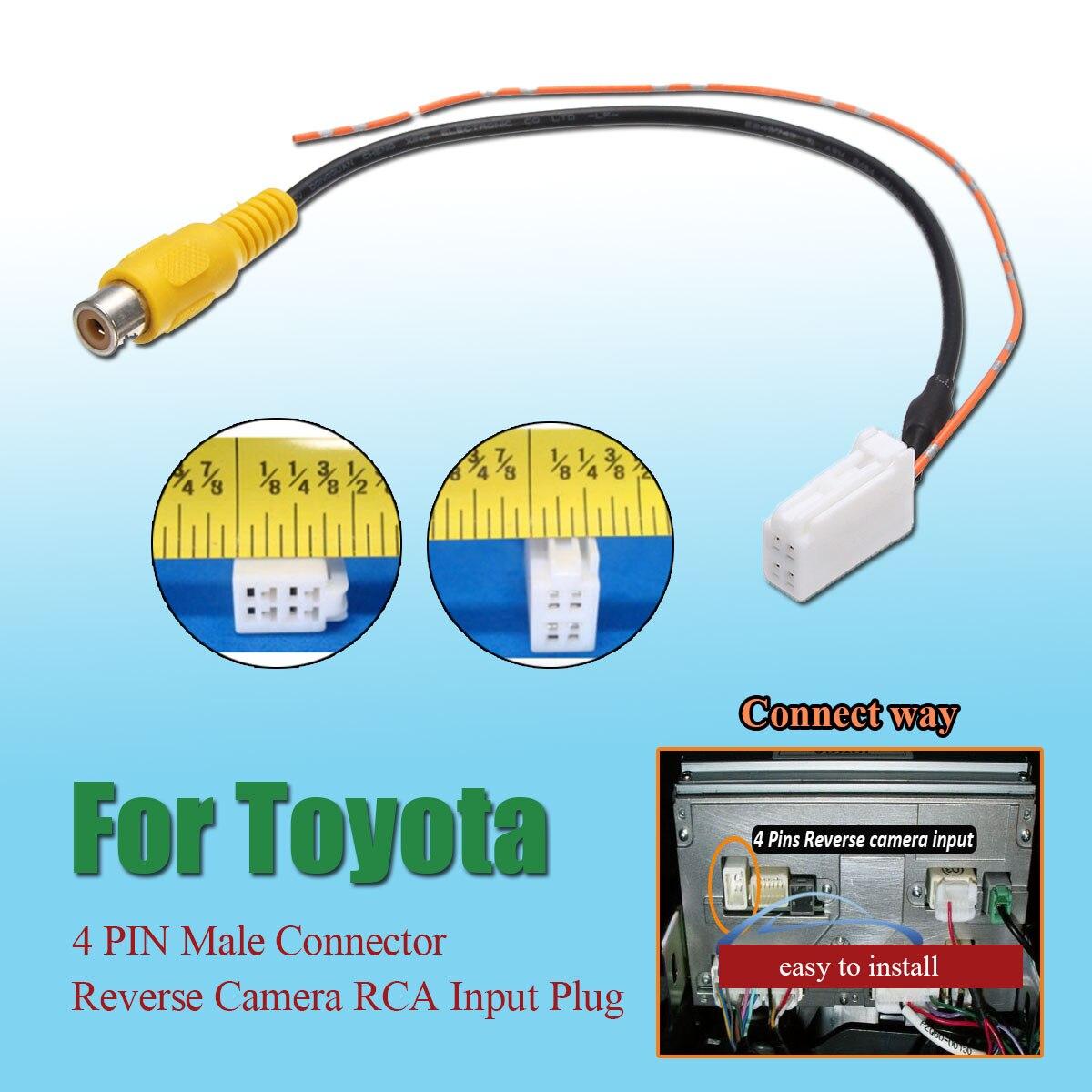 4-контактный Штекерный разъем радио резервная камера заднего вида RCA входной кабель-адаптер для Toyota