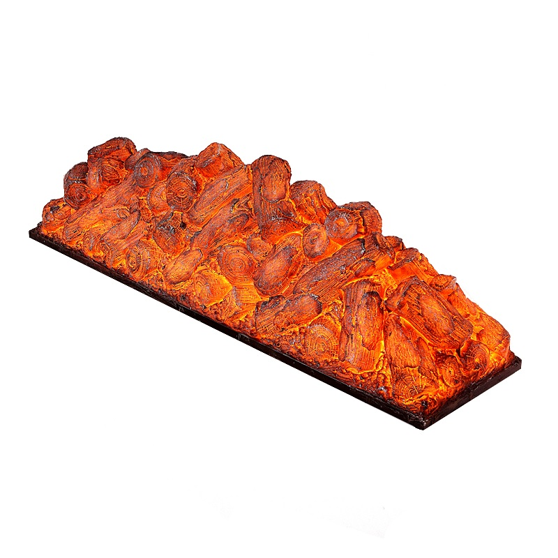 Polymers Made Wood Log Ember LED / Electric Fireplace Insert Pit Open Hearth, Customized Size Available