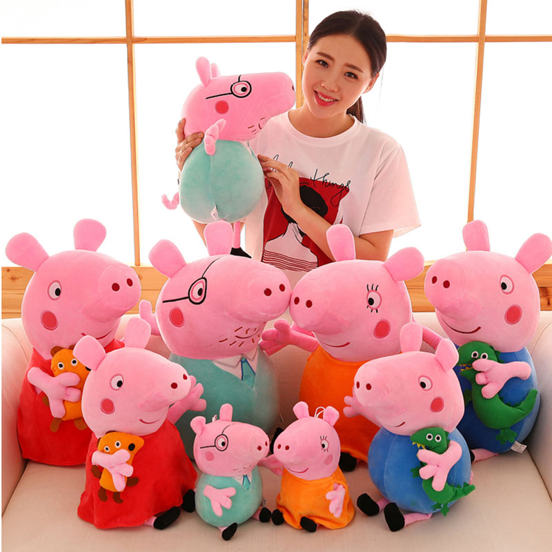 20/30//50/60cm Peppa pig George Family Plush Toy Stuffed Doll Party Decorations Peppa pig Ornament Keychain Kids Christmas Gifts 1