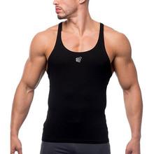 Siłownia mężczyźni mięśni koszulka bez rękawów Tank Top mężczyźni odzież sportowa do kulturystyki Fitness męskie odzież sportowa kamizelki mięśni mężczyzn podkoszulki # p38 tanie tanio CN (pochodzenie) Suknem Na co dzień Stałe Poliester O-neck