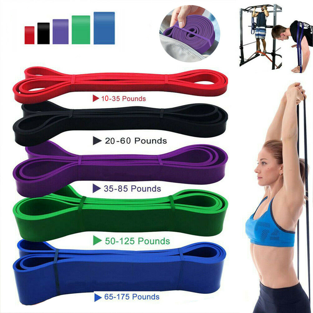 208Cm Fitness Pull up Assist Bands Rubber Bands Heavy Duty Resistance Band Yoga