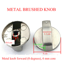 Gas Stove Knob Aluminum Alloy Drawing Sturdy Gas Stove Ignition Switch Embedded Gas Stove