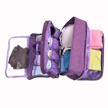 JULY'S DOSAC Bag Large Capacity Travel Portable Duffle Waterproof Dividers Underwear Bra Socks Organizer