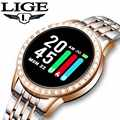 LIGE Smart Watch Women Fitness Tracker Waterproof Pedometer Heart Rate Blood Pressure Monitor For Android ios Sports smartwatch