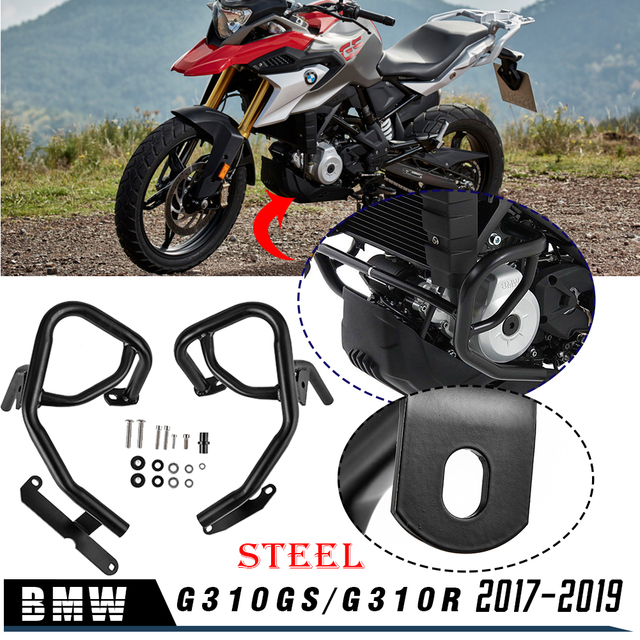 Lower Engine Guard Bumper Highway Crash Bars Protective for BMW G310GS G310R G 310GS G 310R G 310 GS G 310 R 2017 2018 2019