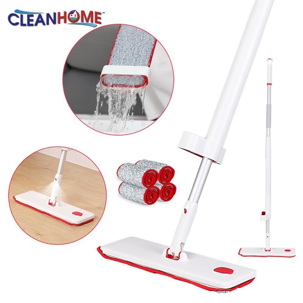 Spray-Mop Home-Kitchen-Laminate Clean Microfiber-Pads Metal-Handle Tilesfloor Reusable