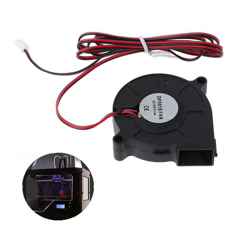 ANENG Black Cooling 12V DC 50mm Blow Radial Cooling Fan Hotend Extruder For 3D Printer 1PC