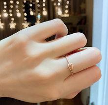 Anillo de diamantes que combina con todo, joyería de oro amarillo sólido de 18K de importación (AU750)