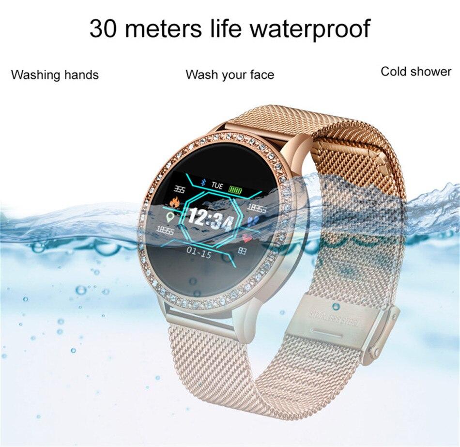 Hcaae4f6ea2944762a22587d2a1d7314aU LIGE New Smart Bracelet Women Health Watch Activity Fitness Tracker Blood Pressure Heart Rate Monitor Smart Wristband fit bit